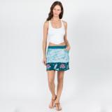 GOOD TIME SKIRT Cotton Lycra Batik Grateful Dead Mini Skirt With Pockets & Bear or Rose Design