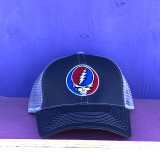 Embroidered Steal Your Face Adjustable Navy with White Mesh
