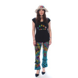ARE YOU KIND T-SHIRT Cotton Cap Sleeve Grateful Dead T-Shirt w/ Stitching - Bear Are You Kind Embroidery