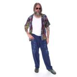 MYCRO PANTS Men's Cotton Pants Solid w/ Print Pot Leaf, Phish Donut & Grateful Dead SYF