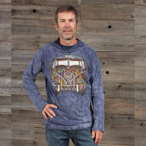 MEN'S NO TIME HOODY Cotton Hooded Men's Sweat Shirt With VW Bus Print