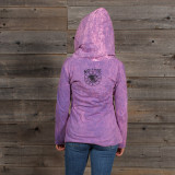WOMEN's NO TIME HOODY Cotton Hooded Women's Sweat Shirt With Pot Leaf Print