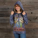 WOMEN's NO TIME HOODY Cotton Hooded Women's Sweat Shirt With Eat Mushroom Print