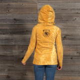 WOMEN's NO TIME HOODY Cotton Hooded Women's Sweat Shirt With Peace Pot Leaf Print