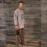 ROBBIE PANTS Cotton Cargo Pants W/ Multi Dead Print