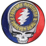 Grateful Dead Steal Your Face forever Grateful Forever Dead Embroidered Patch Large 8 x 8