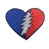 Grateful Dead Heart Bolt Small Patch 3 x 3