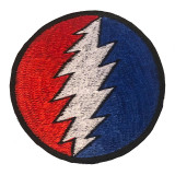 Circle Bolt Embroidered Patch (6 inches)