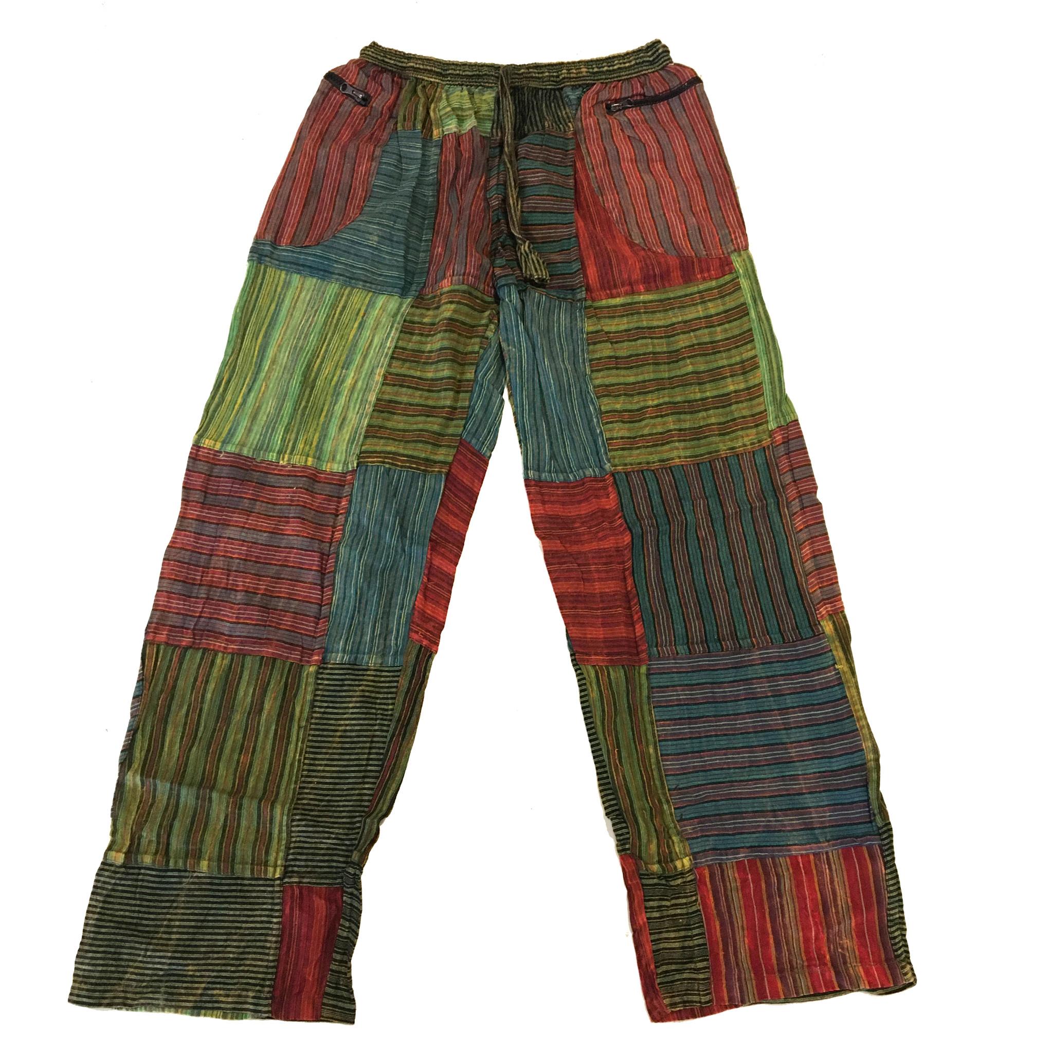 WILLIAM PANTS Cotton Stonewash Patchwork  Pants