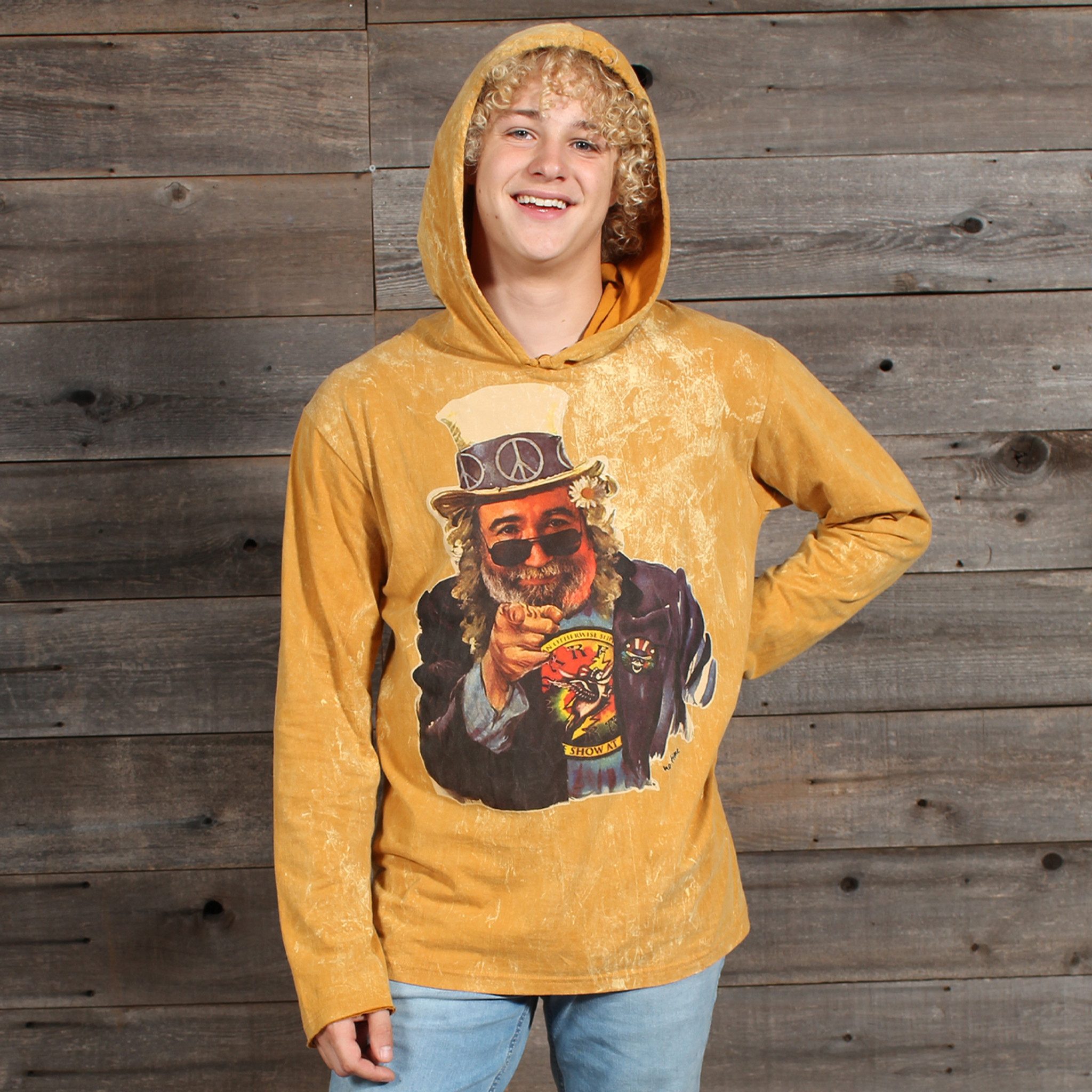 MEN'S NO TIME HOODY Cotton Hooded Men's Sweat Shirt With Jerry Top Hat Print