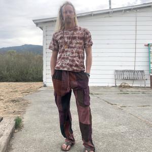 JEREMY PANTS Lightweight Cotton Stonewash Patchwork Men's Cargo Pants