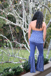 COCO PANTS Bell Bottom Pants With Tassels