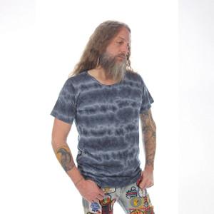 RIPPLE T-SHIRT Cotton Tie Dye Grateful Dead T-Shirt w/ Bolt Print