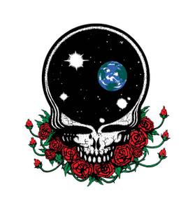 Grateful Dead Licensed Ultimate Disc Space centre print