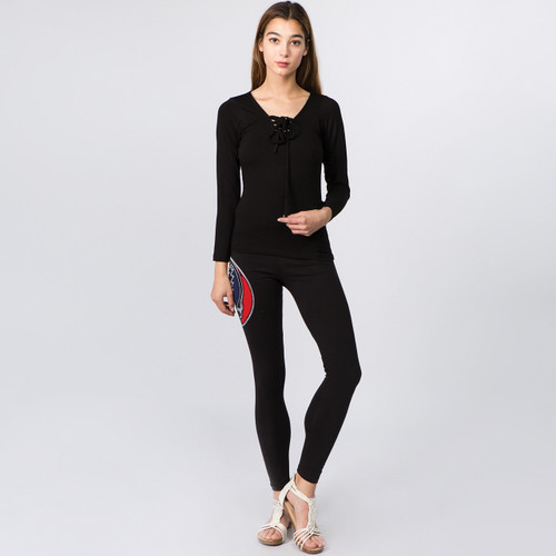 Althea Lycra Leggings With Cut Out Bolt SYF