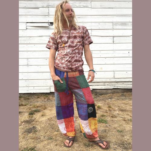 Emerson Cotton Ohm Print Men's Patchwork Pants