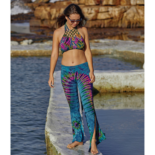JALA PANTS- Rayon Spandex Split Leg Pants