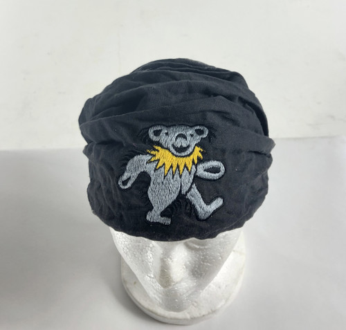 Cotton Stonewashed headband with Embroidered Bear