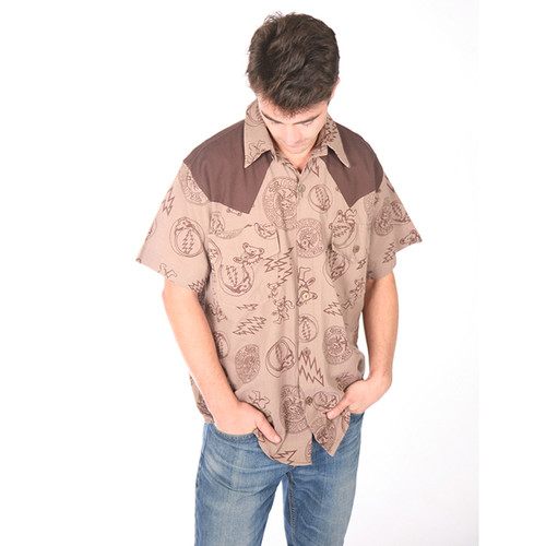 MEXICALI BLUES SHIRT- Cotton Multi SYF Printed Button Down Shirt
