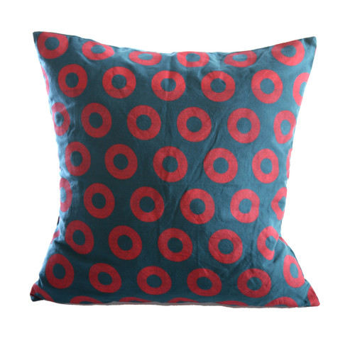 Cotton Phish Donut Print Cushion Cover 18X18