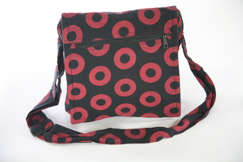 Woven Cotton Phish Donut Print Square Shoulder Bag