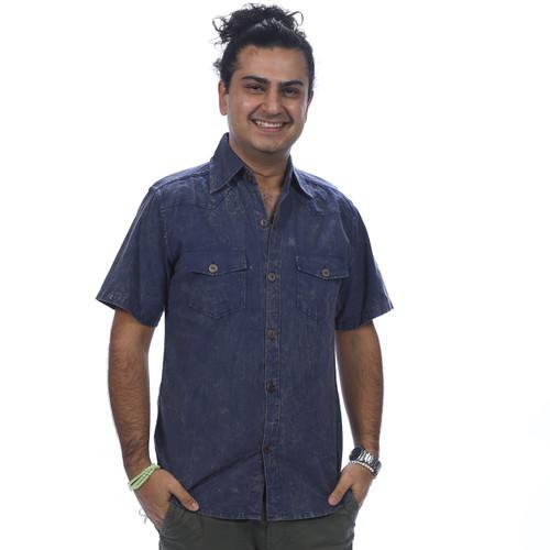 JACOB SHIRT - Fine Cotton Slim Cut Men's Button Up Short Sleeve Shirt
