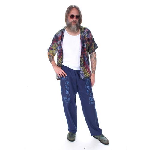 MYCRO PANTS Men's Cotton Pants Solid w/ Print Pot Leaf, Donut & SYF