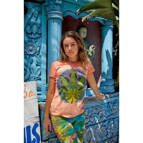 POT LEAF NO TIME T-SHIRT Cotton Pot Leaf Women's T-Shirt