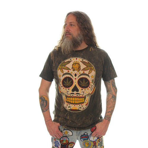 SUGAR SKULL NO TIME T-SHIRT Cotton Sugar Skull Men's T-Shirt