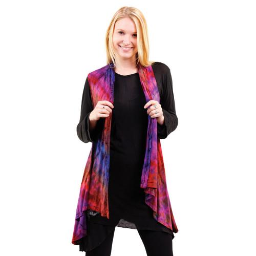 Angie Mudmee Rayon Spandex Angle Cut Vest