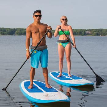 Onyx M/16 Adult SUP / Kayak Manual Inflatable Belt Pack Gray