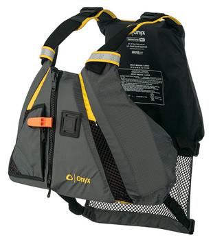 Onyx MoveVent Dynamic Life Vest, Jacket, PFD Yellow / Gray