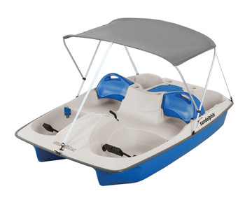 Sundolphin Pedal Boat Canopy and Straps , Gray, NO Frame !