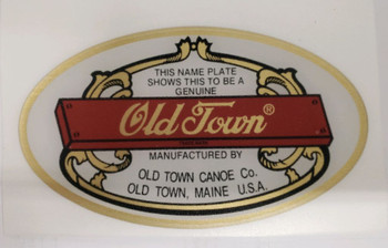 Old Town Canoe Medallion, Domed Genuine  Decal