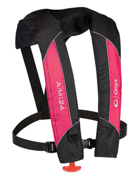 A/M-24 AUTOMATIC/MANUAL INFLATABLE LIFE JACKET - PINK