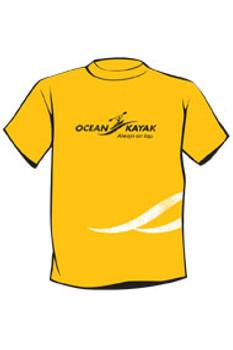 Ocean Kayak T-Shirt, Yellow, Size : Small