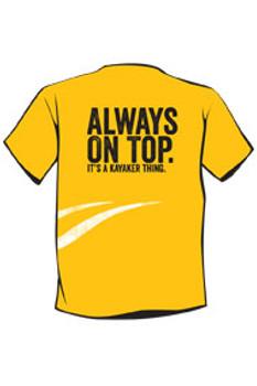 Ocean Kayak T-Shirt, Yellow, Size : X-LG