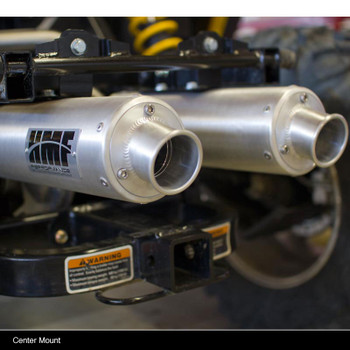HMF Performance Blackout Exhaust Dual Full System Side Mount