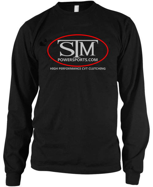 STM Black Long Sleeve T-Shirt with Silver Logo
