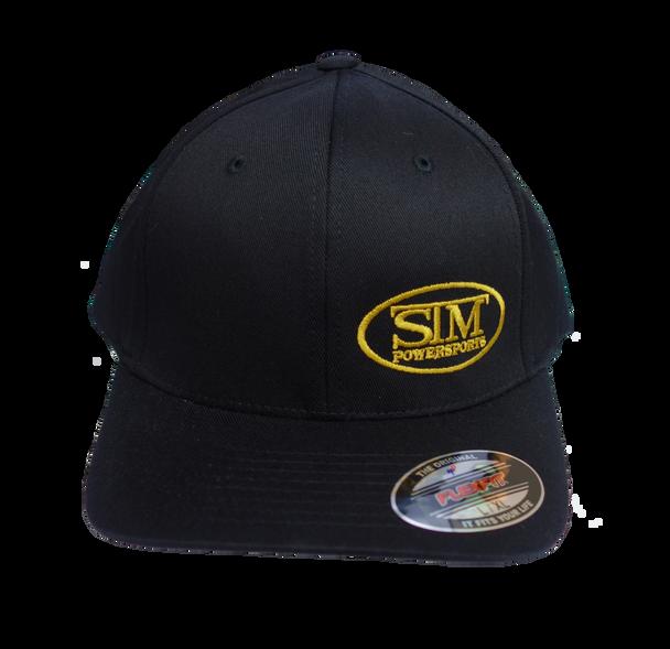 STM Black w/ Gold Logo Flexfit  Hat