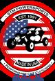 2018 STM Black Short Sleeved T-Shirt with American Flag Logo