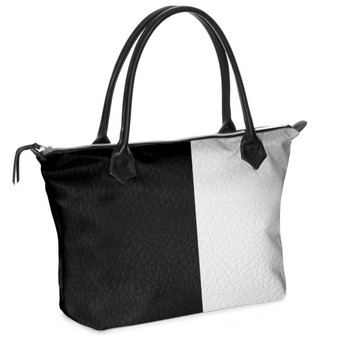 Light and shadow - Leather Tote bag Front