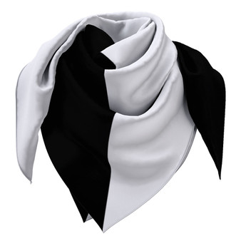 Large black and white scarf 90cm