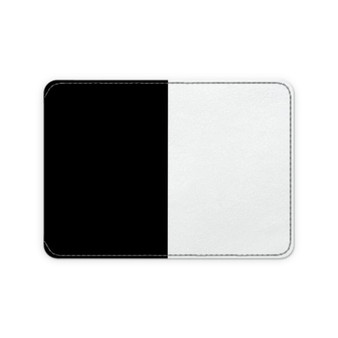Black and white leather card holder