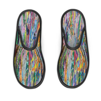 Colourful travel slippers
