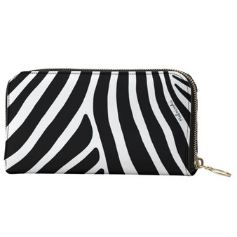 Zebra stripe leather purse by Melsinki