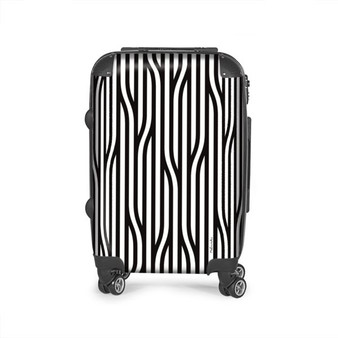 Black and white inflight suitcase