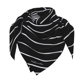 Black and white scarf  90 cm