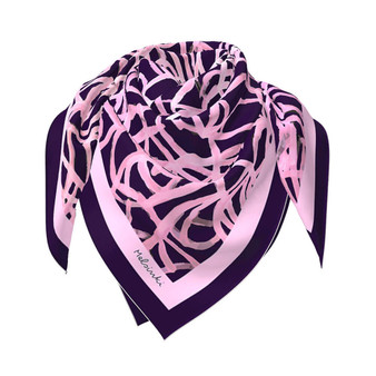 Dreaming of Dancing  scarf in pink and purple, 90 x 90 cm, Melsinki