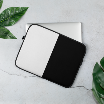 Black and white 13 inch laptop cover by Melsinki